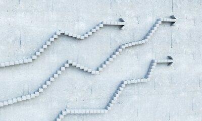 Adesivo La crescita e il progresso concetto