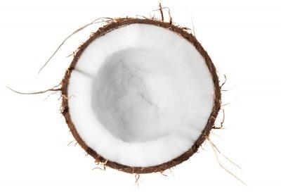 Adesivo La metà di cocco vista dall'alto