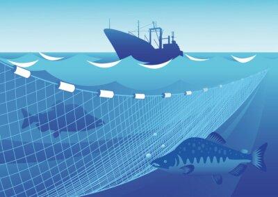 Adesivo La pesca in mare