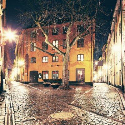 Adesivo La piccola piazza da qualche parte nel Gamla Stan, Stoccolma.