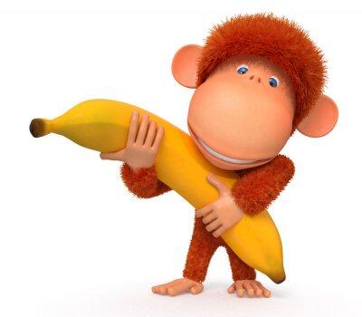 Adesivo La scimmia con banana