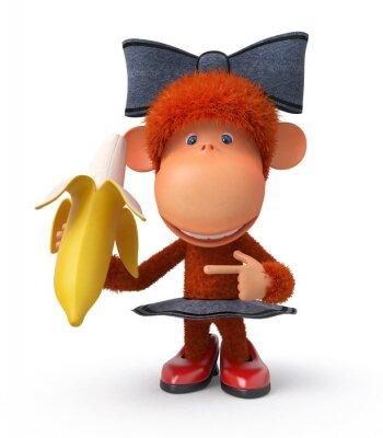 Adesivo la scimmietta con banana