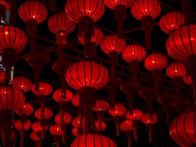 Adesivo Lanterne cinesi, Capodanno cinese.