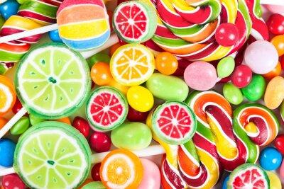 Adesivo Lecca-lecca colorati e caramelle
