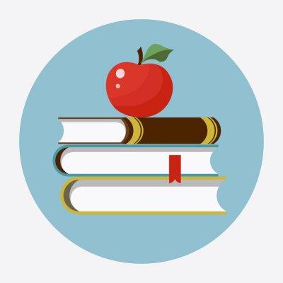 Adesivo Libri con l'icona di Apple piano