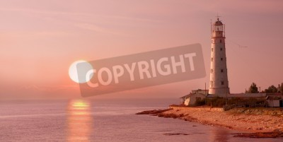 Adesivo lighthouse and sunset