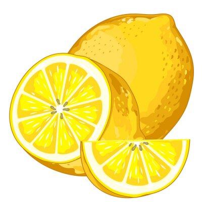 Adesivo Limone isolato su sfondo bianco.