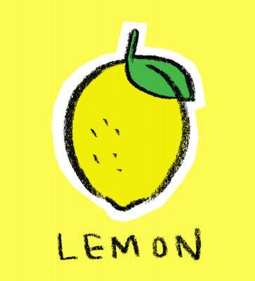 Adesivo Limone su sfondo giallo