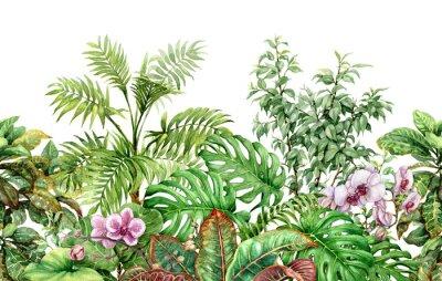 Adesivo Linea Seamless Pattern di piante tropicali