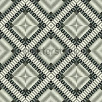 Adesivo linee scure e poligoni sfondo geometrico illustrazione seamless