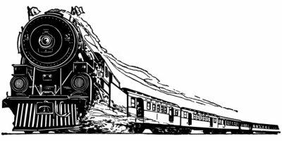 Adesivo Locomotiva a vapore