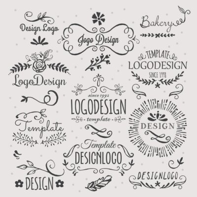 Adesivo Logo design with hand sketched elements