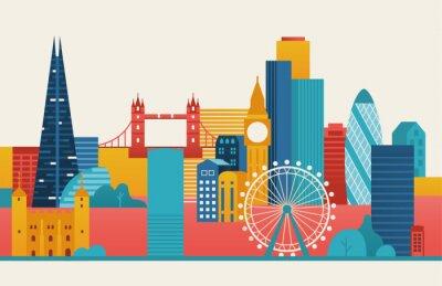 Adesivo London city illustration.