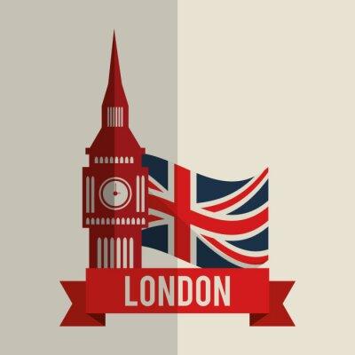 Adesivo Londra icona del design