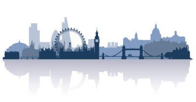 Adesivo Londra in stile piatto vettoriale