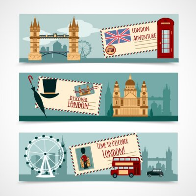 Adesivo Londra turistico Banner Set