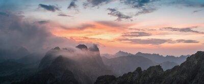 Adesivo Majestic Tramonto con Mountain