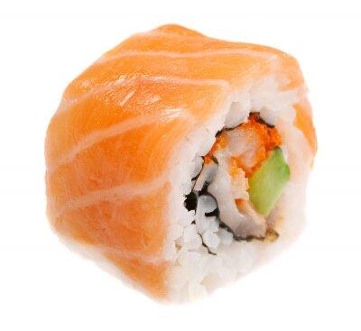 Adesivo Maki sushi isolato su sfondo bianco