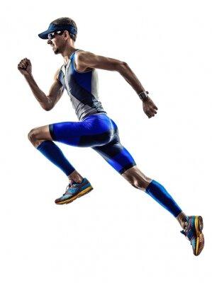 Adesivo man triathlon ironman athlete runners running