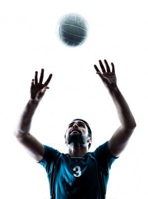 Adesivo man volleyball  silhouette