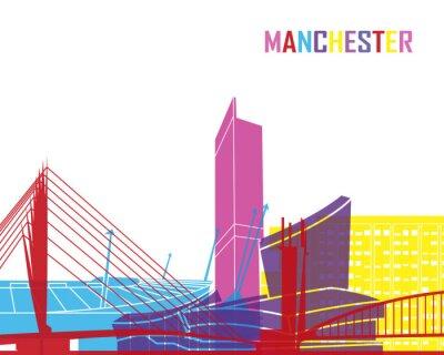 Adesivo Manchester orizzonte pop