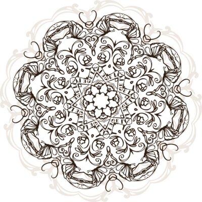 Adesivo Mandala etnica disegno illustrazione indiano