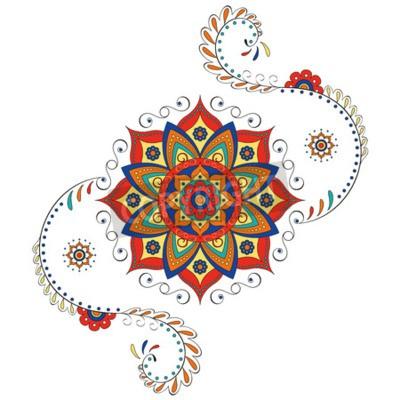 Adesivo Mandala Hindu Lotus