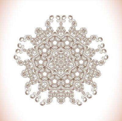 Adesivo Mandala. modello rotondo. Abstract pattern eleganza. Disegnato a mano