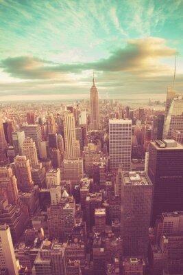 Adesivo Manhattan con suono vintage