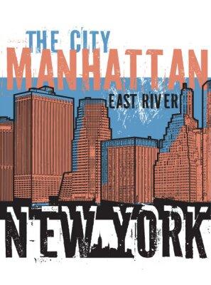 Adesivo Manhattan, New York City