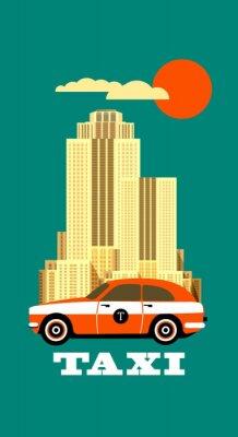 Adesivo manifesto City Taxi