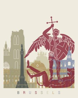 Adesivo manifesto orizzonte Bruxelles