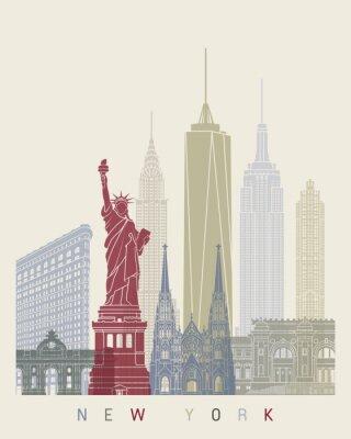 Adesivo manifesto skyline di New York
