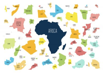 Adesivo Map of Africa with separated countries.