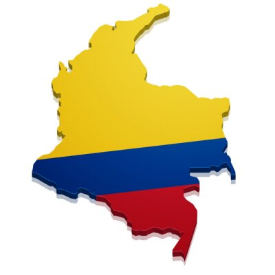 Adesivo Mappa Colombia
