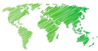Adesivo Mappa del mondo