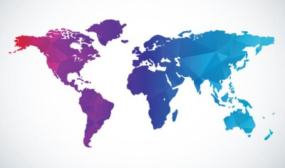 Adesivo Mappa del mondo astratto