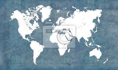 Adesivo Mappa del mondo, d'epoca