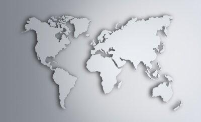 Adesivo Mappa del mondo. Immagine con tracciato di ritaglio