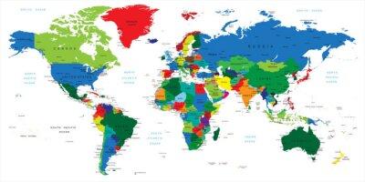 Adesivo Mappa del mondo-paesi