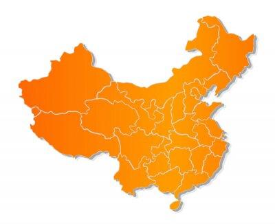 Adesivo Mappa della Cina