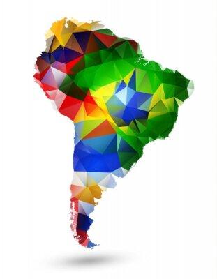 Adesivo MAPPA disegno geometrico del Sud America