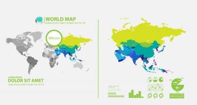 Adesivo mappa infografica