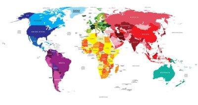 Adesivo Mappa Politica del Mondo