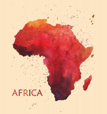 Adesivo Mappa stilizzata dell'Africa.