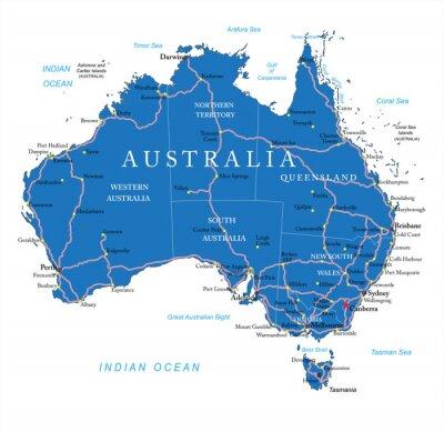 Adesivo Mappa stradale in Australia