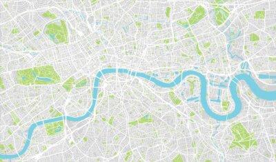 Adesivo mappa urbana della città di Londra, Inghilterra