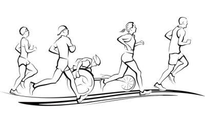 Adesivo Marathon Runners