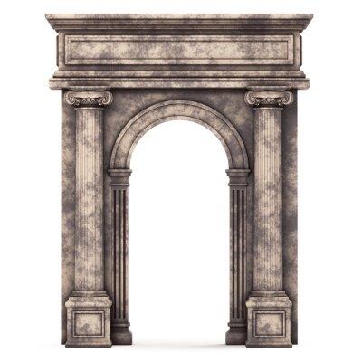 Adesivo Marmo Beige Composite Arch isolato su bianco