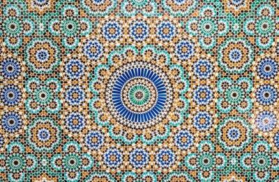 Adesivo marocchino sfondo mattonelle d'epoca